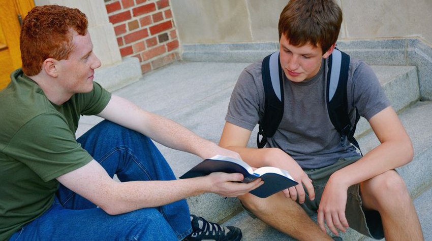 Image of Teens Reading Bible